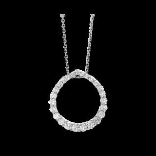 Brogle Selection Halskette mit Anhänger Basic Kreis 4D154W8-1