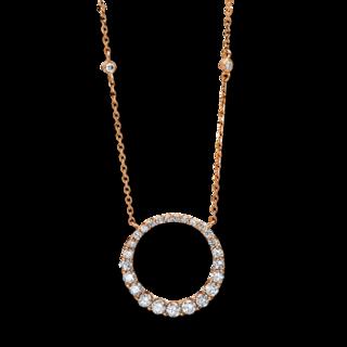 Brogle Selection Halskette mit Anhänger Basic Kreis 4D156R8
