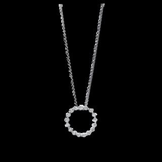 Brogle Selection Halskette mit Anhänger Basic Kreis 4F131W8-1