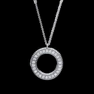 Brogle Selection Halskette mit Anhänger Basic Kreis 4F414W8-2