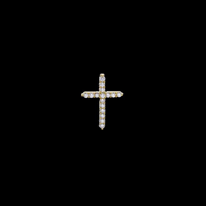Anhänger Brogle Selection Basic Kreuz aus 750 Gelbgold mit 16 Brillanten (0,71 Karat) bei Brogle