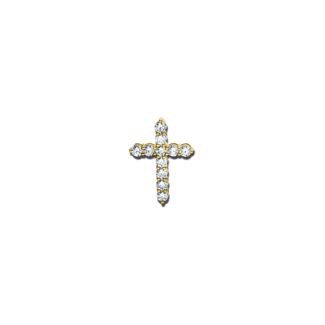 Anhänger Brogle Selection Basic Kreuz aus 750 Gelbgold mit 11 Brillanten (1,84 Karat) bei Brogle