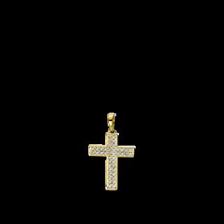 Brogle Selection Anhänger Basic Kreuz 3D768G8-1