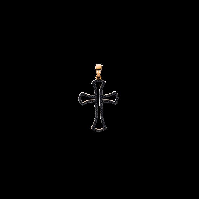 Anhänger Brogle Selection Basic Kreuz aus 750 Roségold mit 83 Brillanten (0,42 Karat) bei Brogle
