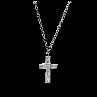 Brogle Selection Halskette mit Anhänger Basic Kreuz 4D783W8-1