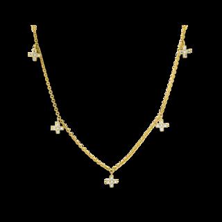Brogle Selection Halskette mit Anhänger Basic Kreuz 4E044G8-1