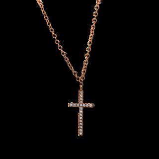 Brogle Selection Halskette mit Anhänger Basic Kreuz 4E288R8-2
