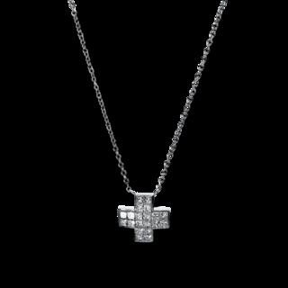Brogle Selection Halskette mit Anhänger Basic Kreuz 4E295W8-1