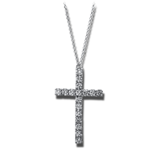Brogle Selection Halskette mit Anhänger Basic Kreuz 4E300W8-1