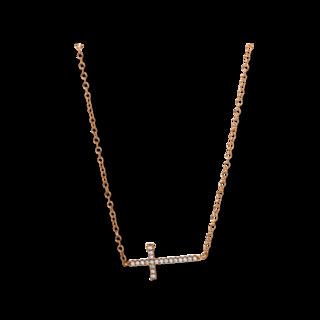 Brogle Selection Halskette mit Anhänger Basic Kreuz 4E306R8