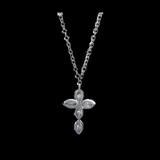 Brogle Selection Halskette mit Anhänger Basic Kreuz 4E315W8-1