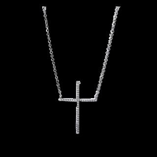 Brogle Selection Halskette mit Anhänger Basic Kreuz 4E321W8-1