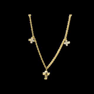 Brogle Selection Halskette mit Anhänger Basic Kreuz 4E537G8-1