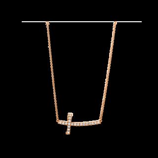 Brogle Selection Halskette mit Anhänger Basic Kreuz 4E829R8-1