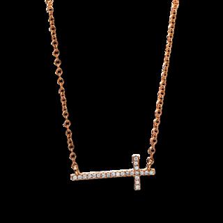 Brogle Selection Halskette mit Anhänger Basic Kreuz 4E882R8-1
