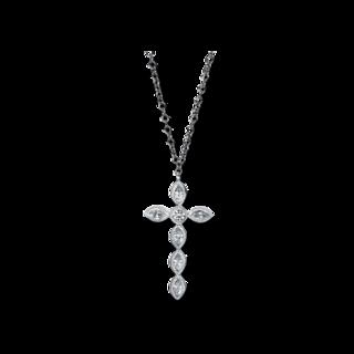 Brogle Selection Halskette mit Anhänger Basic Kreuz 4E967W8-2