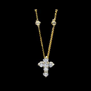 Brogle Selection Halskette mit Anhänger Basic Kreuz 4F189G4-1