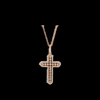 Brogle Selection Halskette mit Anhänger Basic Kreuz 4F388R8-1
