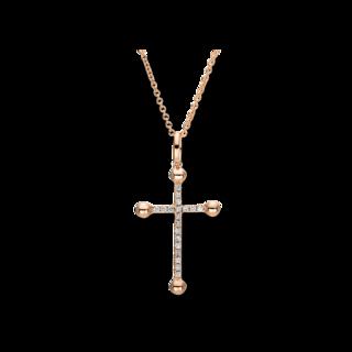 Brogle Selection Halskette mit Anhänger Basic Kreuz 4F396R8-1