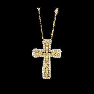 Brogle Selection Halskette mit Anhänger Basic Kreuz 4F435G4-1