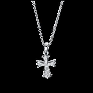 Brogle Selection Halskette mit Anhänger Basic Kreuz 4F623W8