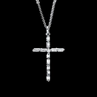 Brogle Selection Halskette mit Anhänger Basic Kreuz 4F670W8-1