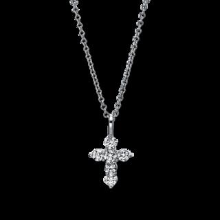 Brogle Selection Halskette mit Anhänger Basic Kreuz 4G170W8-1