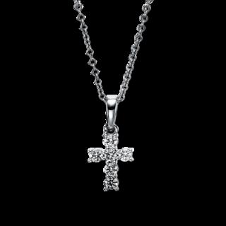Brogle Selection Halskette mit Anhänger Basic Kreuz 4G171W8-1