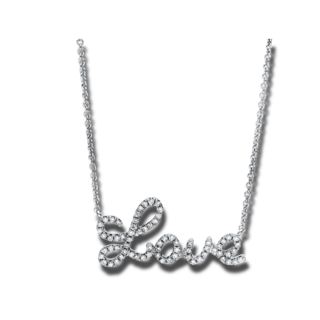 "Brogle Selection Halskette mit Anhänger Basic ""Love"" 4F168W8-1"