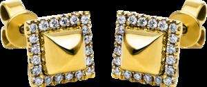 Ohrstecker Brogle Selection Basic aus 585 Gelbgold mit 40 Brillanten (2 x 0,09 Karat)