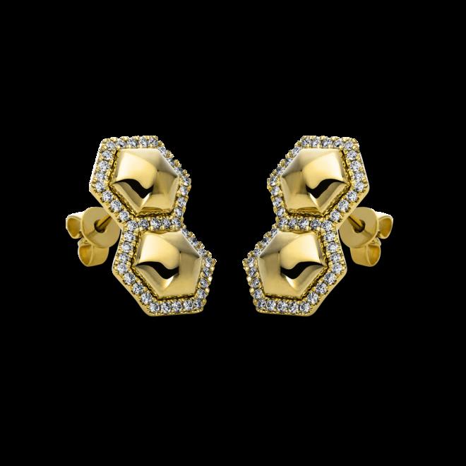Ohrstecker Brogle Selection Basic aus 585 Gelbgold mit 86 Brillanten (2 x 0,195 Karat) bei Brogle