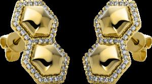 Ohrstecker Brogle Selection Basic aus 585 Gelbgold mit 86 Brillanten (2 x 0,195 Karat)