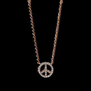 Brogle Selection Halskette mit Anhänger Basic Peace 4D789R8-2