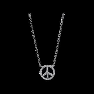 Brogle Selection Halskette mit Anhänger Basic Peace 4D789W8-2
