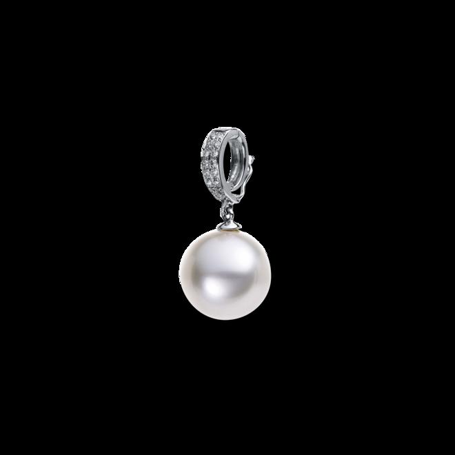 Anhänger Brogle Selection Basic Perle aus 750 Weißgold mit Südsee-Perle und 16 Brillanten (0,09 Karat) bei Brogle