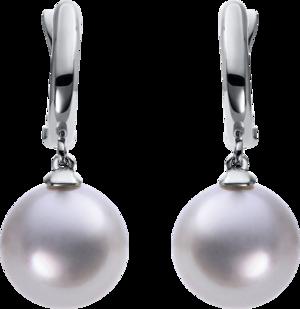 Creole Brogle Selection Basic Perlen aus 750 Weißgold mit 2 Südsee-Perlen