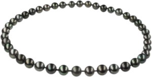 Halskette Brogle Selection Basic Perlen aus 750 Weißgold mit 39 Tahiti-Perlen
