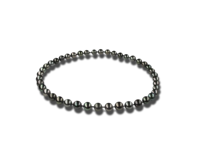 Halskette Brogle Selection Basic Perlen aus 750 Weißgold mit 39 Tahiti-Perlen bei Brogle