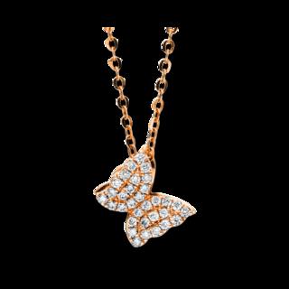 Brogle Selection Halskette mit Anhänger Basic Schmetterling 4F501R8-1