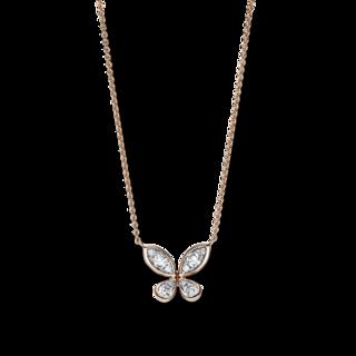 Brogle Selection Halskette mit Anhänger Basic Schmetterling 4F667R8-1