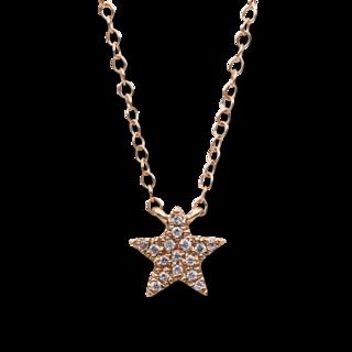 Brogle Selection Halskette mit Anhänger Basic Stern 4B693R8-3
