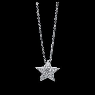 Brogle Selection Halskette mit Anhänger Basic Stern 4C548W8-1