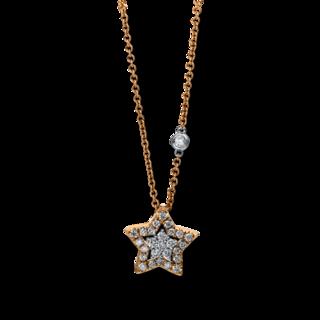 Brogle Selection Halskette mit Anhänger Basic Stern 4D900R8-1