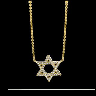 Brogle Selection Halskette mit Anhänger Basic Stern 4F172G8-1