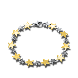 Brogle Selection Armband Basic Sterne 5B676WG8-1