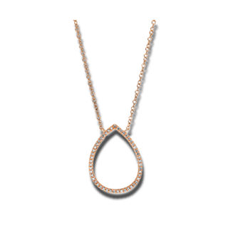 Brogle Selection Halskette mit Anhänger Basic Tropfen 4C487R8-2