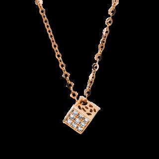 Brogle Selection Halskette mit Anhänger Basic Würfel 4F504R8-1