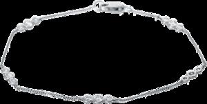 Armband Brogle Selection Casual aus 750 Weißgold mit 15 Brillanten (0,34 Karat)