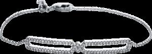 Armband Brogle Selection Casual aus 750 Weißgold mit 76 Brillanten (0,37 Karat)