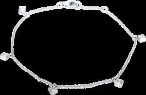Armband Brogle Selection Casual aus 750 Weißgold mit 5 Diamanten (0,38 Karat)